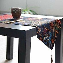 kaige Tischläufer Quaste Baumwolle Leinen Bett