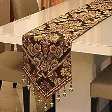 kaige Tischläufer Vintage Tischfahne Tuch Tisch