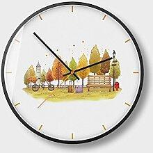 Kaige Wanduhren 13-Zoll-moderne Uhr Metall Uhr