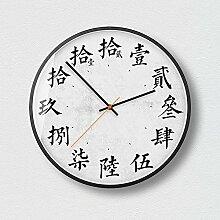 Kaige Wanduhren Wand-Uhr 12-Zoll-Runde Wanduhr