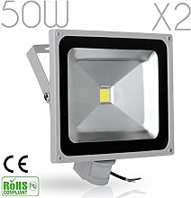 kaigeli888® 2er Set 50W LED Fluter Strahler +