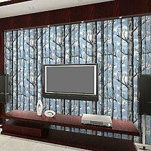 KAIRRY Personalisierte Bäume Tapete stereoskopische 3D-Schwarz-Weiß-Zweige Hintergrund Tapete Wohnzimmer Esszimmer Flur ( Color : B )