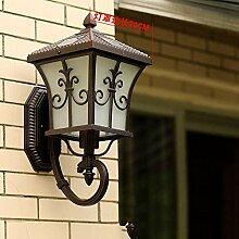 KAISIMYS LED Solar-Wandlampe für den Garten,