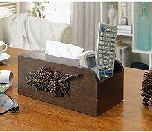 KAISIMYS Wohnzimmer Büro Hotel Holz Tissue Box