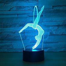 KAIYED 3D Nachtlicht 3D Lampe 7 Farben Led