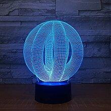 KAIYED 3D Nachtlicht 3D Led Lampe Licht USB