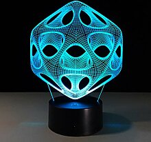 KAIYED 3D Nachtlicht 7 Farbwechsel 3D Led