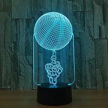 KAIYED 3D Nachtlicht Basketball Form Acryl Led 3D