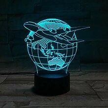 KAIYED 3D Nachtlicht Flugzeug USB Led Tischlampen7