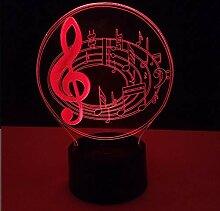 KAIYED 3D Nachtlicht Kreative Note 3D Lampe