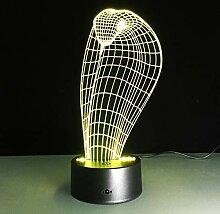 KAIYED 3D Nachtlicht Neuheit 3D Lampe Schlange