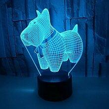 KAIYED 3D Nachtlicht New Puppy 3D Kleines