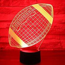 KAIYED Dekorative Tischlampe Erstaunliche 3D Led