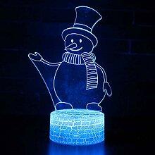 KAIYED Dekorative Tischlampe Schneemann 3 Thema 3D