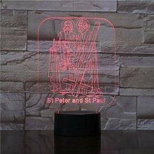 KAIYED Nachtlicht 3D Acryl Nachtlicht Illusion
