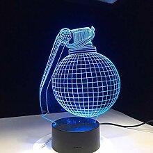 KAIYED Nachtlicht 3D Lampe Geschenk für Freund