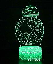 KAIYED Nachtlicht 3D Lampe kreative dekorative 3D
