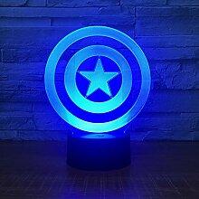 KAIYED Nachtlicht 3D Lampe Nachtlicht 7 Farben