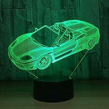 KAIYED Nachtlicht 7 Farbe Auto Lampe 3D Visuelles