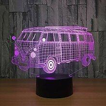 KAIYED Nachtlicht Camping Bus 3D Visuelle Illusion