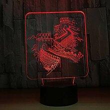 KAIYED Nachtlicht Chinesische 3D Lampe Bunte Touch