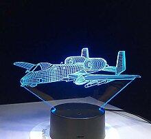 KAIYED Nachtlicht Flugzeug Flugzeug 3D Licht