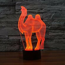 KAIYED Nachtlicht Kamel Bunte 3D Lampe Kreative