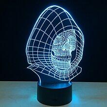 KAIYED Nachtlicht Schädel 3D USB Lampe Tischlampe