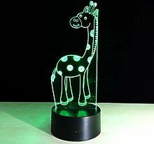 KAIYED Nachtlicht USB 3D Lampe Giraffe 3D Touch
