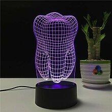 KAIYED Nachtlicht Zähne Form 3D LED Lampe