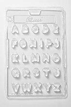 Kakao 5Stück Alphabet Schokolade Backform, 26,