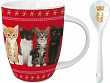 Kakao Tasse mit Löffel - From Kittens With Love