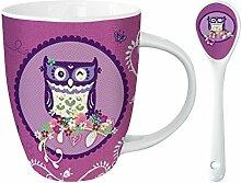 Kakao Tasse mit Löffel - Wise Old Owl - Weise Eule