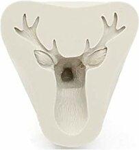 Kakiyi 3D Christmas Rotwild-Kopf-Form-Süßigkeit