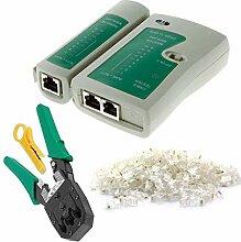 Kakiyi 4 Stück Netzwerk-Kabeltester Detector