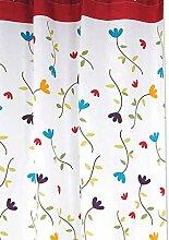 Kakiyi Orchideen-Blumen-Polyester-Duschvorhang