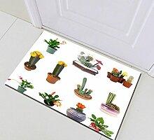 Kaktus Badematte Tropische Pflanzen Waschbar Tür