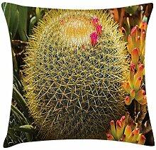 Kaktus-Dekor-Kissenbezug, Foto von Kaktuspflanze,