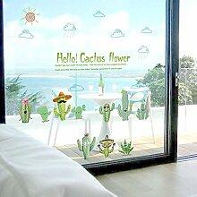 Kaktus Frische Grüne Wandaufkleber Schlafzimmer