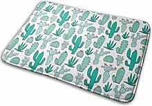 Kaktus in Mintgrün Badematte Fußmatte Teppich