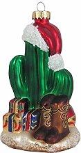 Kaktus mit Lichtern Glas-Ornament 10,8 cm