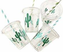Kaktus-Partybecher – Set mit 12 Stück mit