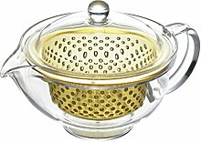 Kakusee Kyusu Teekanne 280 ml mit Sieb (gelb)