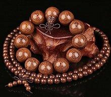 kalaixing Marke Holz Armband Link Handgelenk Halskette Kette tibetisch-buddhistischen grau Perlen Gebet Mala Chinesischer Knoten Elastic Männer, Frauen–6mm-8mm-2pcs