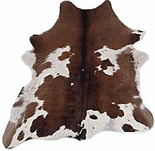 Kalbsleder Fellteppich Natür - Tricolore - 87 cm