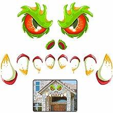 Kaliosy Halloween-Monster-Gesichtsaufkleber,
