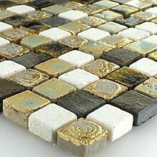 Kalkstein Marmor Stein Naturstein Mosaik Fliesen Gold Beige