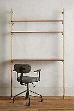 Kalmar Schreibtisch mit Regal - Brown