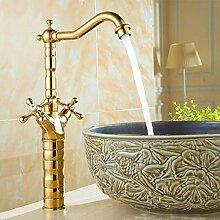 Kalt- und Warmwasser Küchenarmatur Goldenes Deck