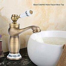 Kaltes heißes Wasser Waschbecken Wasserhahn für